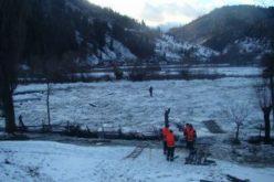 Drum național blocat la Fiad din cauza unui zapor de gheață