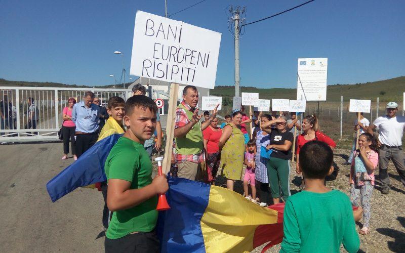 Sătenii din Tărpiu anunță noi proteste împotriva proiectului construirii în pădure a unei celule noi a Depozitului de deseuri