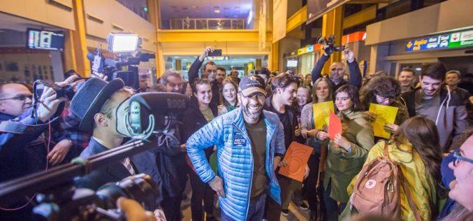 Campionul Tibi Ușeriu s-a întors în țară de la Cercul Polar: face recuperare la o clinică din Cluj și e cu gândul la un maraton în deșert