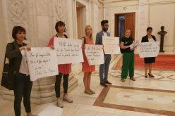"""Protest la Parlament împotriva nefinanțării programului """"after school"""". Deputatul Cristina Iurișniți îi susține pe ong-iștii protestatari"""