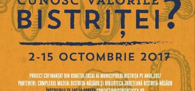 """Bistrița Civică anunță preselecție pentru concursul """" Cunosc Valorile Bistriței?"""""""
