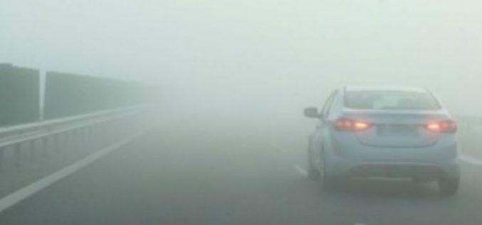 Cod galben de ceață între Beclean și Uriu