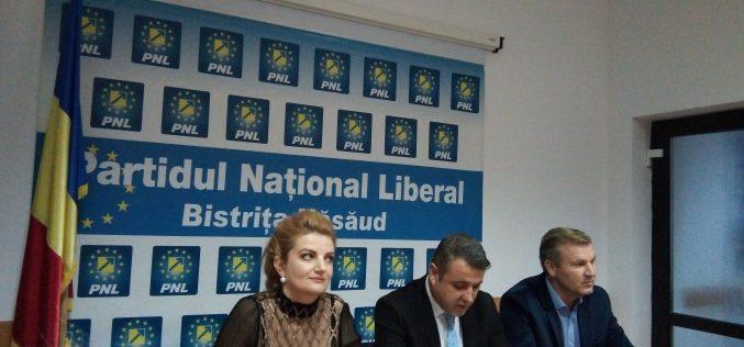 Liberalii bistrițeni susțin moțiunea de cenzură printr-un miting către Prefectură