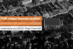 Bistrițenii chemați să protesteze împotriva risipirii banului public de municipalitate