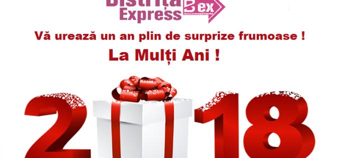 Bistrița Express vă urează un an nou în care să vă transformați speranțele în realitate!