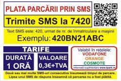 Taxarea prin SMS a parcării la Bistrița inclusiv pentru 30 de minute e aproape la un click distanță.