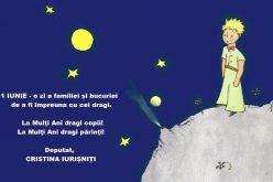 Cristina Iurișniți : 1 IUNIE- o zi a familiei și bucuriei de a fi împreună cu cei care îți sunt alături