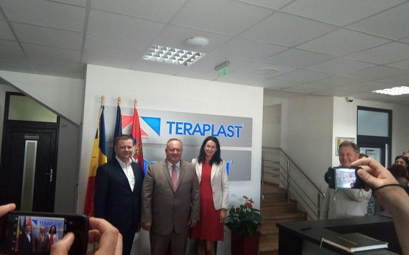 Fabrica din Serbia a Grupului TeraPlast face vânzări de 1 milion de euro pe lună. Primarul orașului sârbesc a vizitat ieri compania-mamă