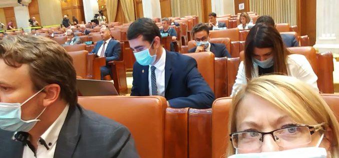 Deputatul Cristina Iurișniți, cu mască în prima zi din sesiunea parlamentară. Vezi de ce