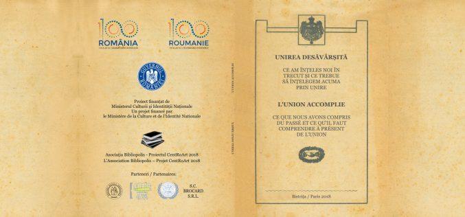 INEDIT: O broșură despre Unire, tipărită acum 100 de ani a fost reeditată în ediție bilingvă de o fundație din Bistrița-Năsăud