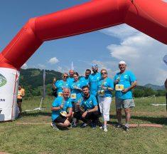 O echipă a USR-iștilor bistrițeni a alergat sâmbătă în maratonul umanitar de la Bichigiu.
